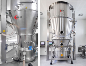 Glatt operates a unique fluid bed system that processes solvent-based products in a vacuum or using nitrogen as the process gas